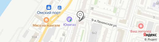 Неваляшка на карте Омска