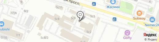 Лилия на карте Сургута