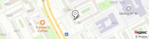 Аптека на Ленина 70 на карте Сургута