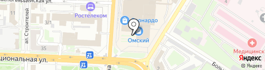 Банкомат, Бинбанк, ПАО на карте Омска