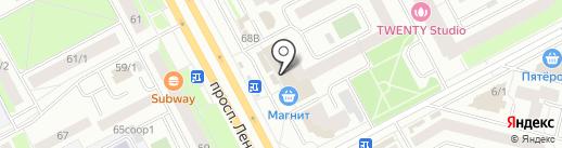 Магазин нижнего белья и домашней одежды на карте Сургута