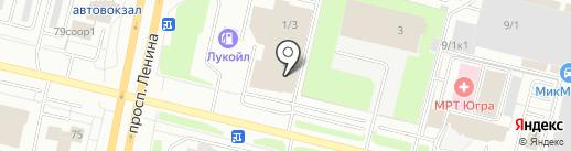 Infiniti на карте Сургута