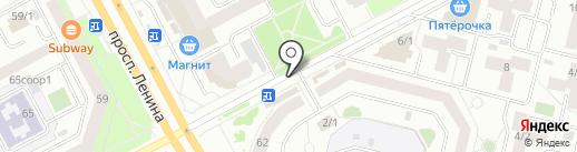 Киоск по продаже фруктов и овощей на карте Сургута