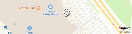 Лабиринт страха на карте Сургута