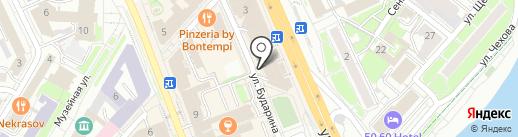 Магазин женской одежды и головных уборов на карте Омска