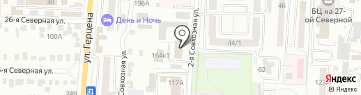 Банный комбинат №2 на карте Омска