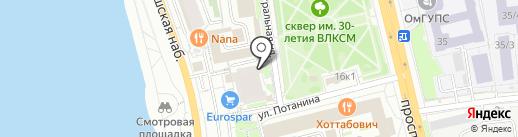 Хотей на карте Омска