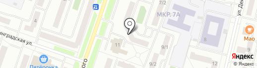 Центральное на карте Сургута