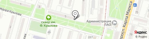 Юридический кабинет на карте Омска