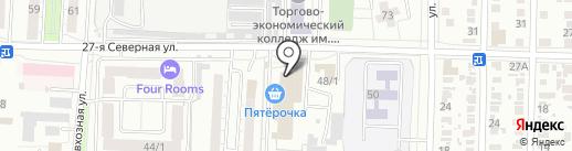 Юнистрой на карте Омска