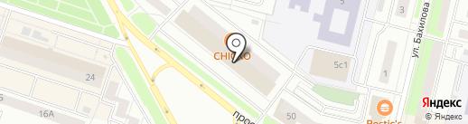Магазин тканей на карте Сургута