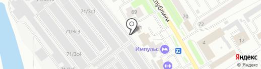 Автосервис на карте Сургута