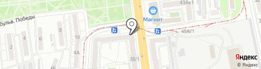 Холинка на карте Омска
