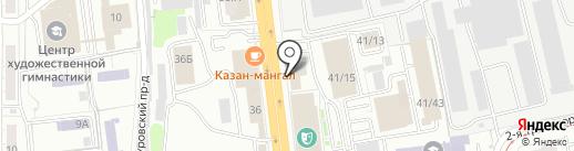 Партком на карте Омска