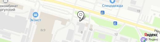 Капритех на карте Сургута