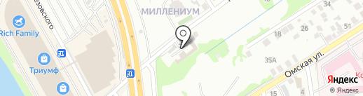 Мастерская по ремонту автостекол на карте Омска