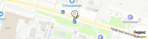 Эталон на карте Сургута