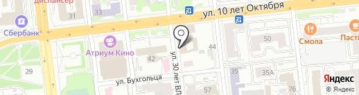 Зефир на карте Омска