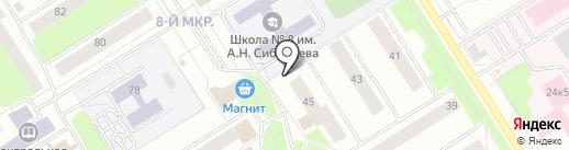 Расчетно-кассовый центр №8 на карте Сургута