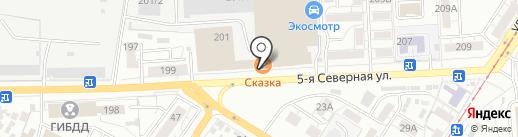 TOTAL ELF на карте Омска