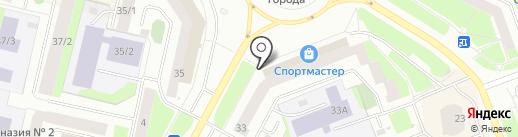 Магазин канцтоваров на карте Сургута