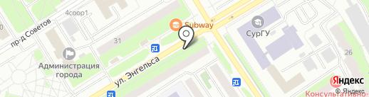 4G на карте Сургута