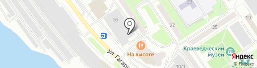 Потребительский гаражно-строительный кооператив №45 на карте Сургута