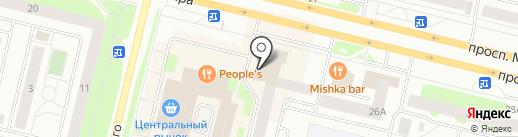 Алмаз на карте Сургута