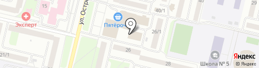 Почтовое отделение №25 на карте Сургута
