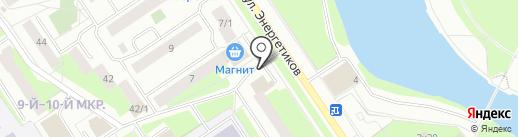 Орион на карте Сургута