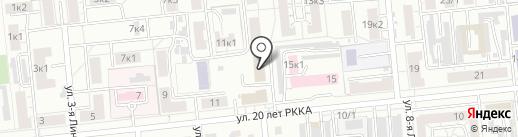 Лантан на карте Омска