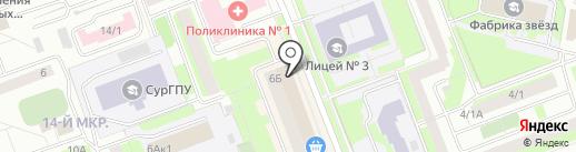 Магазин текстиля для дома и бани на карте Сургута