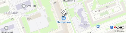 Сургутский Центральный Ломбард на карте Сургута