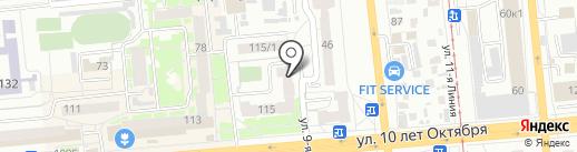 Стиль на карте Омска