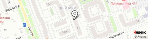 Лео-центр на карте Сургута