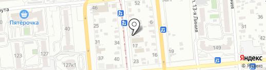 Компания по прокату автомобилей на карте Омска