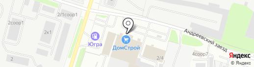 От Белорусского дворика на карте Сургута
