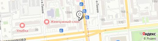 Авсень на карте Омска