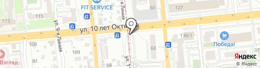 Автопалитра на карте Омска