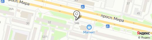 Киоск фастфудной продукции на карте Сургута