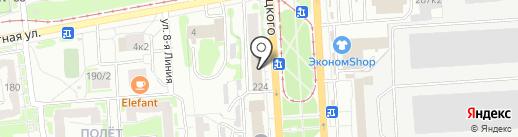 Полет на карте Омска