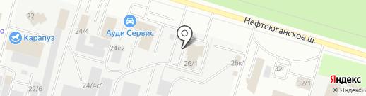 Магазин автозапчастей для Audi, Volkswagen, Skoda на карте Сургута