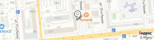 Омская обувная фабрика на карте Омска