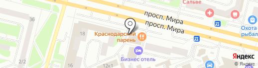 Форма на карте Сургута