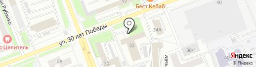 Служба эвакуационной помощи на дороге на карте Сургута