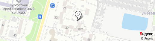Транспортная компания на карте Сургута