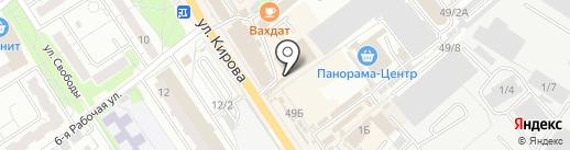 Магазин детской и подростковой одежды на карте Омска