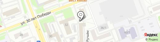 Служба проката зеркального кабриолета на карте Сургута