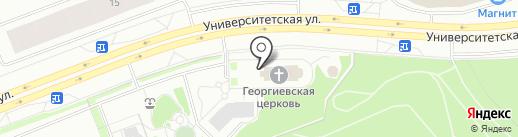 Церковная лавка, Храм Святого великомученика Георгия Победоносца на карте Сургута