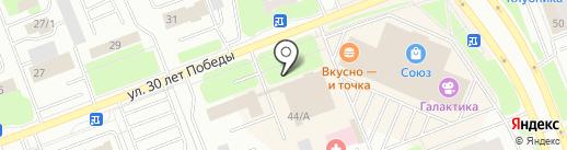 Батэль на карте Сургута